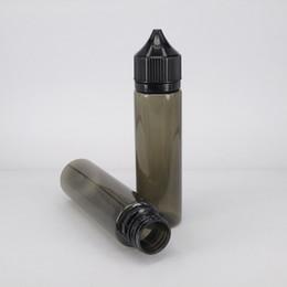 Needle tip Gorrilla bottle dropper plastic pet black bottle 60ml hotting sale cheap ejuice drip with label for eliquid vape bottle