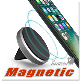 Wholesale Car Mount holder Clip for Smartphone Universal Premium Magnetic Air Vent Aluminum Frame Phone Holders for iPhone Plus with Retail Pack