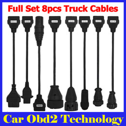 5PCS Lot Full Set Truck Cable For TCS CDP PRO PLUS 8 Cables For Trucks Tcs Cdp Pro Plus Scanner Truck Cables by DHL Shipping