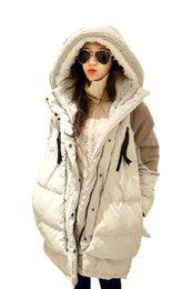 Wholesale 2017 new casaco feminino Winter Coats Women Plus Size Long Thickening Warm Down Parka Hooded Jacket Women Outerwear Down Jacket FS1002
