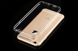 For iPhone 7 Soft TPU Ultra Thin 0.3mm Clear Iphone6 6s Case Soft Transparent gel Case Note 5 Back Case Opp Bag