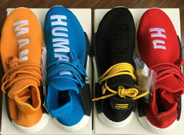 Wholesale 2017 Human Race NMD Factory Real Boost Yellow Red Green Black Orange NMD Men Pharrell Williams X Human Race NMD Running Shoes Sneakers