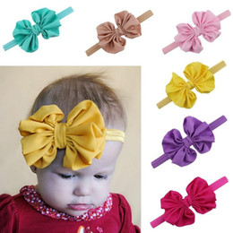 Fashion Infant Hair Bow Flower Headbands Baby Chiffon Bow Knot Headband for Girls Handmade Elastic Hairbands Childrens Classic Tiara Hor