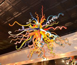 Wholesale Mouth Blown Borosilicate New Products Christmas Light Table Centerpieces Chihully Style Murano Glass Led Chandelier Light