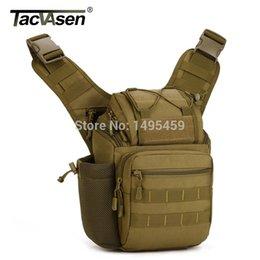 Militar Molle Saddle Bolsas Cross Body Pack HOMBRES Casual Sling de una sola correa de un hombro Campamento Bag Men Camera Rucksack desde bolsas de honda de la cámara proveedores