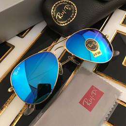 Wholesale Rui Di mm mirror gradient sunglasses pilot glasses for men brand designer sunglasses mm sun glasses with original box