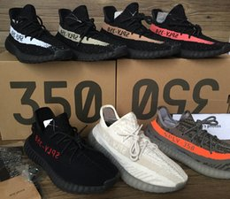 Wholesale 2017 better kanye west shoes V2 Sply Boost men s shoes Orang copper red Beluga Running Shoes Keychain Socks Bag Receipt Original Boxes