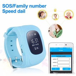 Wholesale kids smart watch kids gps watch Q50 Children baby Security Monitor Anti lost SOS Smartwatch Phone for IOS and Android