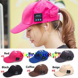 Sport Music Hat Unisex Bluetooth Earphone Hat Baseball Cap Sun Visor Leisure Hats Outdoor Long Time Music Playing Music Caps For Smartphones