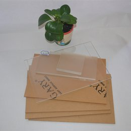 Acrylic Sheets Clear 100x100x5mm Plastic Transparent Business Card Plexiglass Photo Frame Perspex