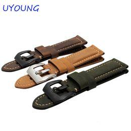 Promotion bracelet en cuir véritable Wholesale-26mm Pour Garmin Fenix 3 Bracelet en cuir véritable Nubuck Bracelet en cuir pour Fenix 3 Bracelet montre