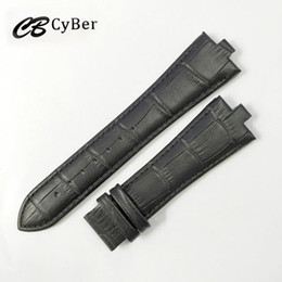 Cbcyber Genuine leather watchbands convex 7mm 12mm High Quality Watch Strap For Men luxury watch band 24mm