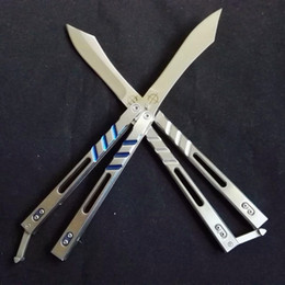 Wholesale Brand New benchmade DESPERADO AB Balisong folding Knife cr HRC Full Steel Gift Collection Knife With K Sheath