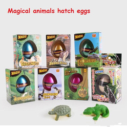 New Children's Funny Toy Box Large Dinosaur Eggs Children Education Toys Water Expansion 7 Styles Animal Hatching Egg Animal Kids Toy Free