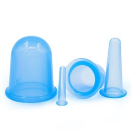 Chinese Cupping Therapy Set 4 Silicone Massage Cupping Face Back Legs Cups for Anti Cellulite, Anti-aging, Wrinkle Reduce