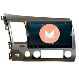 Consola gris en venta-3G / 4G Android 6.0 2 DIN 10.1 'Quad Core dvd Video GPS Navi para Honda Civic 2006-2011 con pantalla capacitiva 1024 * 600 RDS