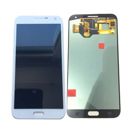 Super AMOLED LCD Display Touch screen Digitizer For Samsung Galaxy E7 E700 E700F E7000 E7009 White With Tempered Glass DHL logistics