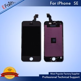 For iPhone SE Black LCD Screen Display For SE Screen Digitizer Replacement & Free Shipping