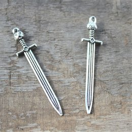 7pcs- sword Charms, Antique silver Game of throne John snow sword charms pendants 67x14mm