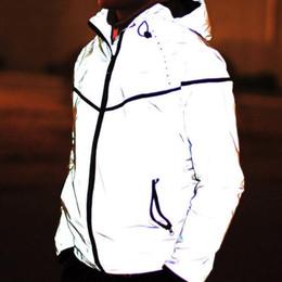 Descuento m seguridad Venta al por mayor al aire libre al aire libre de ciclismo de ciclismo de deporte de senderismo de 3 M de seguridad reflectante bicicleta de noche de ropa de jogging de running chaqueta de jerseys conjunto de abrigo