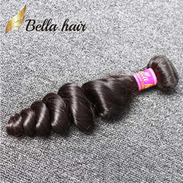 3pcs lot Indian Human Hair Weave Natural Black Color Wavy Loose Wave Hair Weft Free Shipping