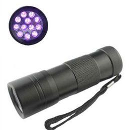 Hot sale! 12 LED UV Flashlight Ultra Violet Camp Lamp Torch Anti-fake UV Flash Light