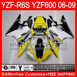 8Gifts 23Colors Body For YAMAHA YZF R6 S YZFR6S 06 07 08 09 57HM17 YZF600 YZF R6S 06-09 YZF-R6S 2006 2007 2008 2009 Fairing kit