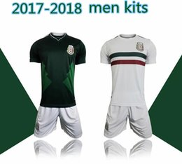 2017 camiseta para correr verde Kits de los hombres 2018 México lejos casero lejos calidad tailandesa 2017-18 México camisa blanca blanca del fútbol Camisa de funcionamiento del desgaste de CHICHARITO O.PERALTA SoccER camiseta para correr verde en oferta