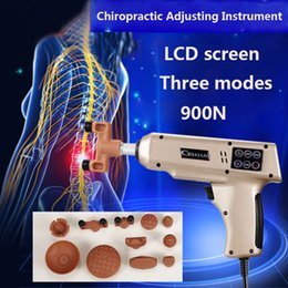 Wholesale NEW N Heads LCD screen Therapy Chiropractic Adjusting Instrument Intelligent Spine Correcting Massage Apparatus Electric Correction Gun