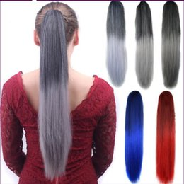 Hair ornaments wig Beauty salons Colored horsetail Headgear Wig tools Hair extension Fake straight horsetail hairstyle