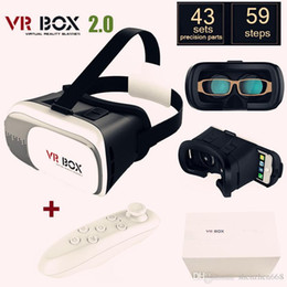 Wholesale 10X Google cardboard VR BOX II Version VR Virtual Reality D Glasses For inch Smartphone Bluetooth Controller A XY