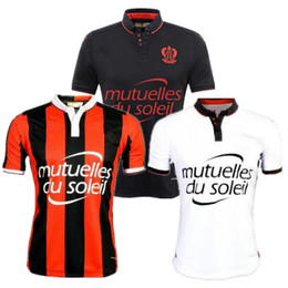 Wholesale 2016 OGC Nice Home Away Jersey third RD black white best quality shirt