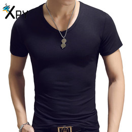95% Cotton t shirt men Summer new solid color short-sleeved men's T-shirt cotton men's round neck Tops