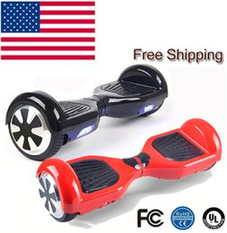 Wholesale Led Lighting 24v Blue - In stock 6.5 Inch Hoverboard Two Wheels Self Balance Scooter Hover Board With LED Light Free Shipping