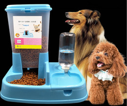 Wholesale Pet supplies Cat and dog pet water dispenser Automatic feeder Feeding dog drinking fountains Pet feeding water one