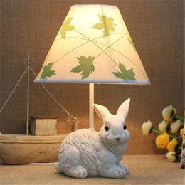 2017 étude des enfants Cartoon Bunny Baby Room Lampe de bureau Cute Child Table Lampes de table Kids Study Room Desk Light étude des enfants sortie