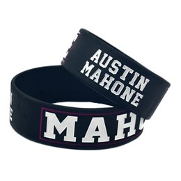 50PCS Lot Austin Mahone Silicone Wristband 1 Inch Wide Bracelet for Music Fans A Great Way To Show Your Support