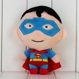 2017 superhéroes juguetes de peluche Los juguetes rellenos suaves suaves de la felpa de las muñecas de la felpa del superhombre los 20cm del super héroe para el envío libre del regalo de los cabritos superhéroes juguetes de peluche outlet