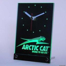 Wholesale tnc0168 Arctic Cat Snowmobiles Table Desk D LED Clock