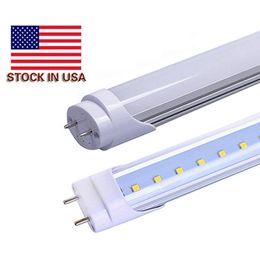 Stock in USA 4ft 22W 18W T8 Led Tube Light 2400lm Led lighting Fluorescent Tube Lamp 1.2m LED tubes X100Pcs