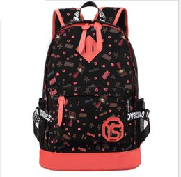 The Korean version of the new tide female BAG canvas cartoon round students college wind women's computer backpack