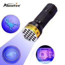 SKU765 AloneFire NEW 21LED UV Light 395-400nm LED UV Flashlight-black