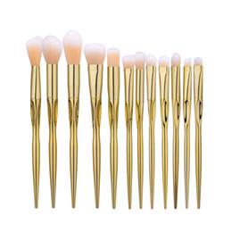 Mybasy 12pcs Professional Synthetic Makeup Brush Eyeshadow Powder Foundation Brush Kits Heart-shaped rose gold Make up Brush