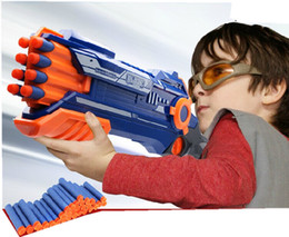 Wholesale NERF series powerful launcher with soft form EVA bullet plastic toy air gun toys for children shoot bullets