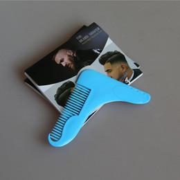 Promotion cheveux amicale Beard Bro Beard outil de mise en forme pour les lignes parfaites Tondeuse à cheveux pour les hommes Trim modèle Hair Cut Gentleman Modeling Comb