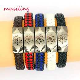 Wholesale musiling Leather Bracelets Pure Manual Weaving Antique Jewelry Bohemian Bracelets Watchband Design High Quality Women Mens Jewelry