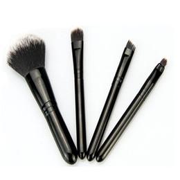 Descuento conjunto de maquillaje cepillo de bajo precio 2017 de la venta caliente de la nueva manera del precio bajo se fija el cepillo 4Pcs del maquillaje del encanto de Byfunme mini 4Pcs (negro)