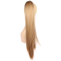 La mandíbula para el cabello en venta-Ponytail al por mayor-recto del pelo de la cola de caballo de la fibra sintética de la garra 150g de la extensión del pelo de las mujeres con la mandíbula WP541G
