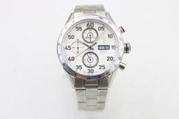 Descuento esfera blanca para hombre de los relojes automáticos Reloj de lujo del dial de la marca de fábrica de lujo del calibre limitado Nueva calidad 16 relojes inoxidables del mecánico automático nuevo del Mens Relojes