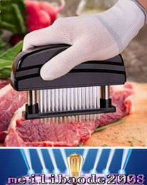 Wholesale 2017 NEW Blades Needle Meat Tenderizer Stainless Steel Knife Meat Beaf Steak Mallet Meat Tenderizer Hammer Pounder Cooking Tools MYY